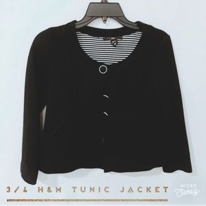 3/4 H&M Tunic Jacket